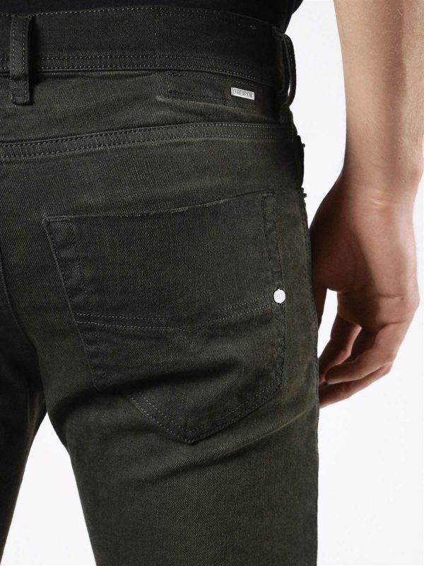 diesel tepphar 0858x 57w mens jeans plain slim fit carrot made in italy