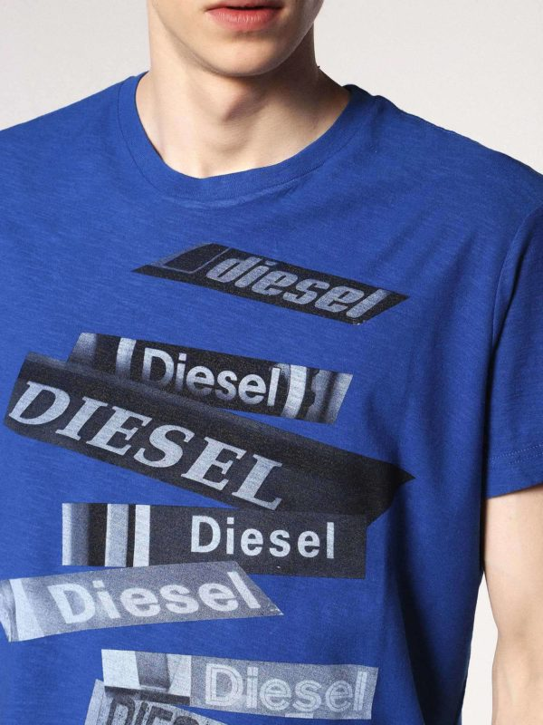 diesel t diego qd mens t-shirt short sleeve crew neck casual summer cotton tees