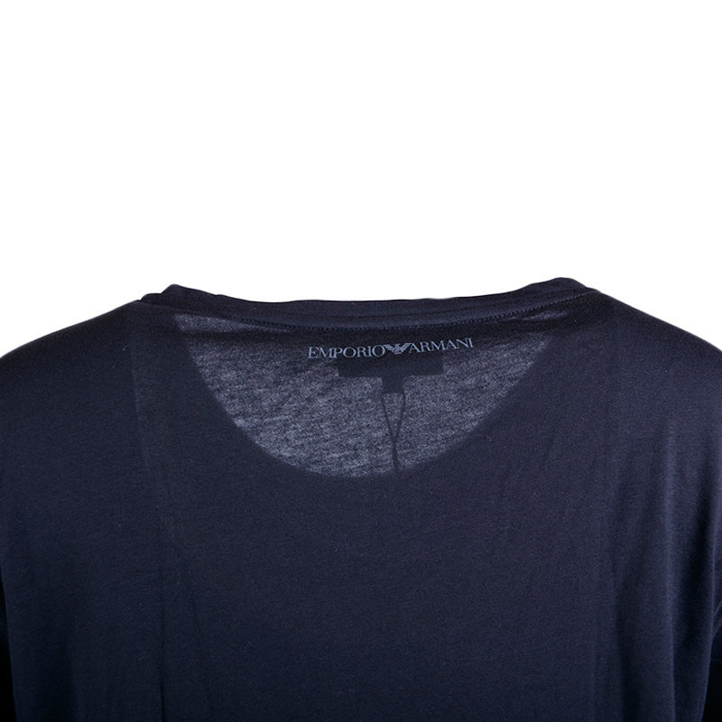 emporio armani 6x2t1a 2jacz womens t shirt black casual crew neck short sleeve