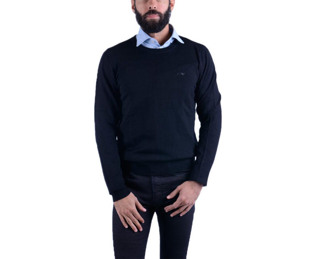 ARMANI JEANS 8N6M86 Mens Cardigan Long Sleeve Crew Neck Knitwear Pullover Jumper