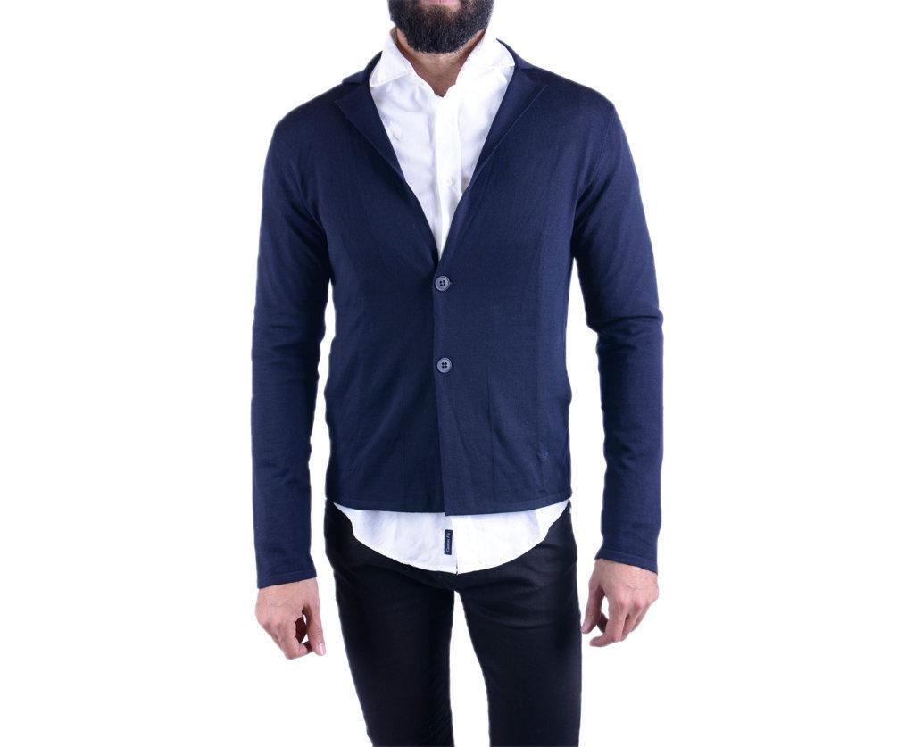 ARMANI 8N1E23 Mens Cardigan Long Sleeve Knitwear Button Through Gentleman Sweat