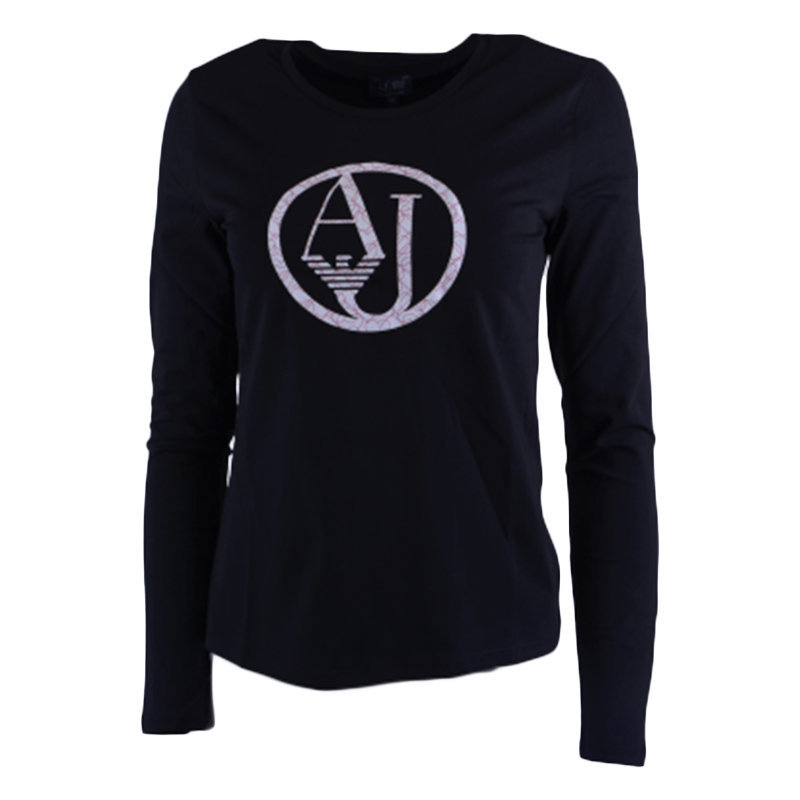 armani jeans 7v5t04 5j00z 0209 womens t-shirt crew neck long sleeve casual tee