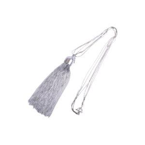 g ferre women necklace casual fashion jewellery white tassels long chain pendant