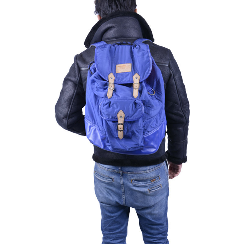diesel prototipi unisex backpack shoulder rucksack blue school travel bag
