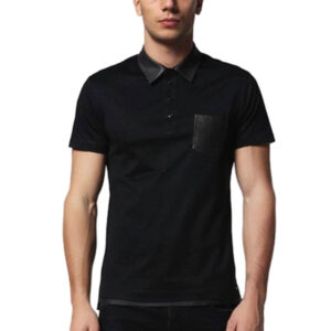 diesel t rice 900 mens polo t shirt short sleeve leather summer cotton golf tee