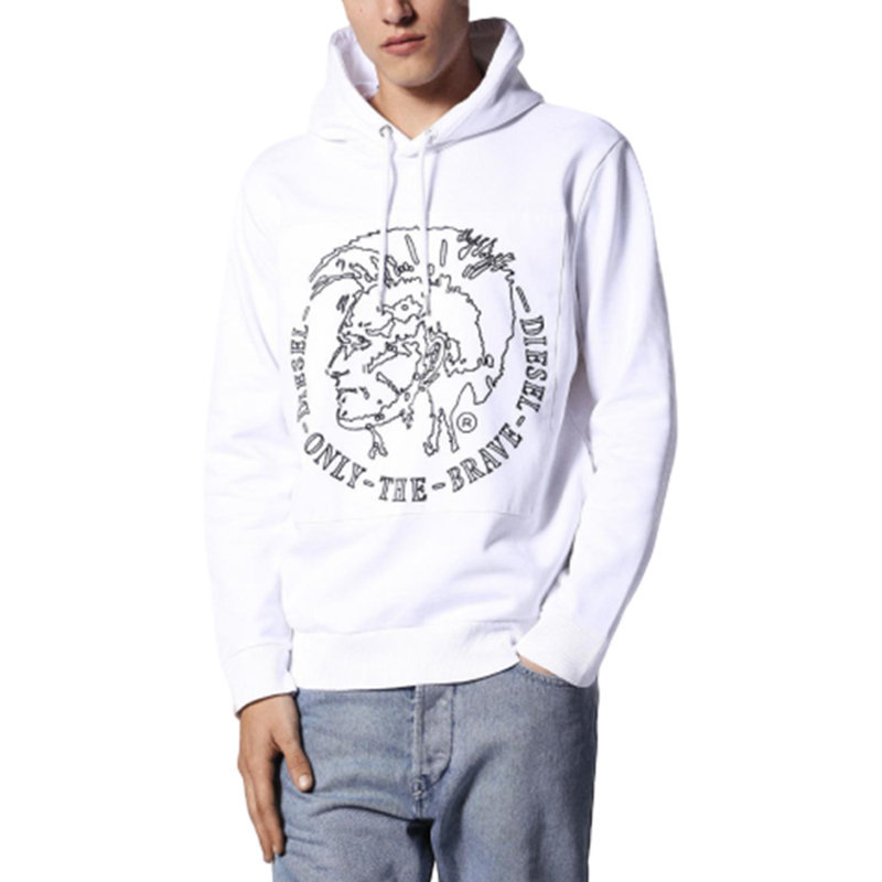 diesel s albert felpa 100 mens hoodie pullover hooded sweatshirt lounge wear