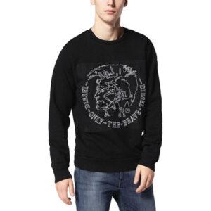 diesel s samuel felpa 900 mens sweatshirt crew neck long sleeve pullover jumper
