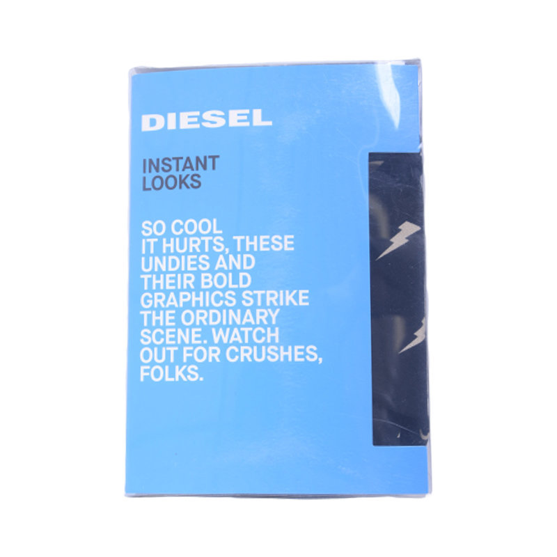 diesel umbx shawn seasonal mens boxer trunk shorts single pack underwear black