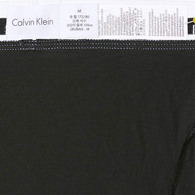 calvin klein mens ck low rise trunks 100% authentic 3x cotton underwear black