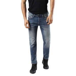diesel belther 0857n mens denim jeans stretch regular slim tapered casual pants