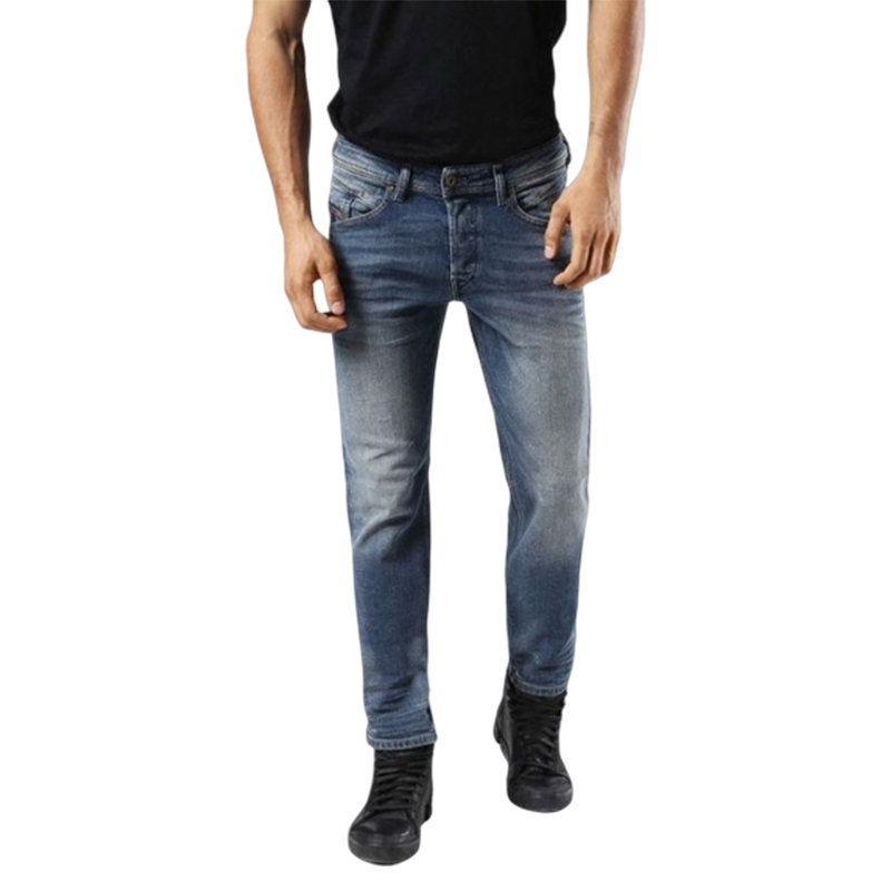 diesel belther 0857n mens denim jeans stretch regular slim tapered casual pants