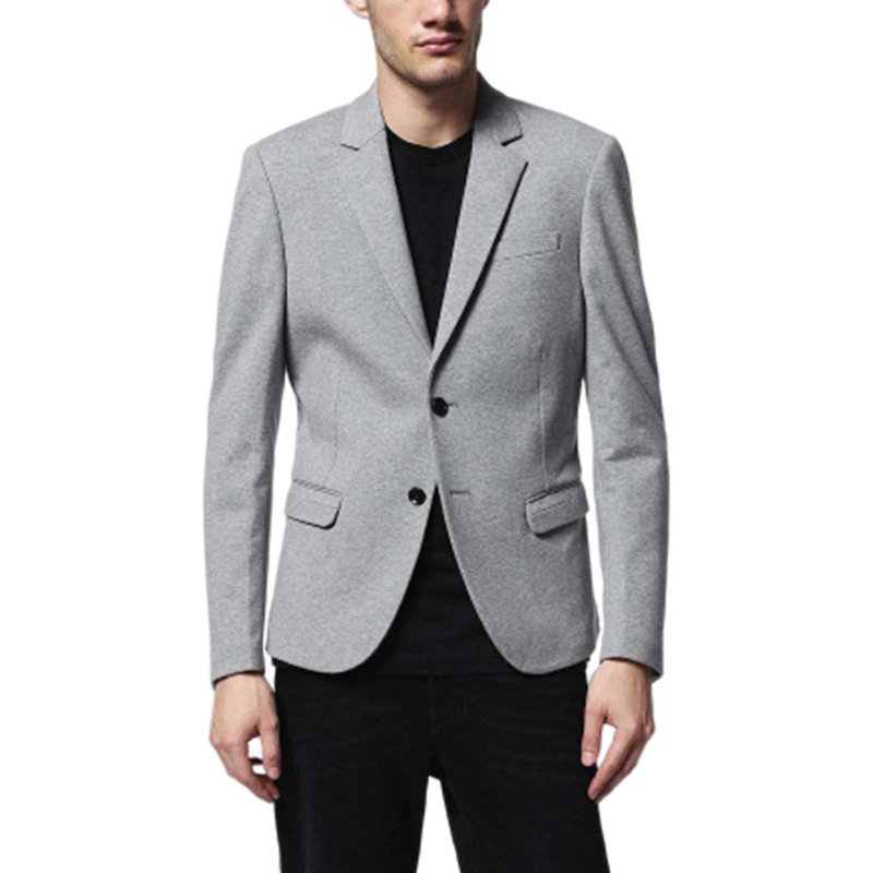 diesel j keane mens blazer casual relaxed fit lapel neckline grey suit separates