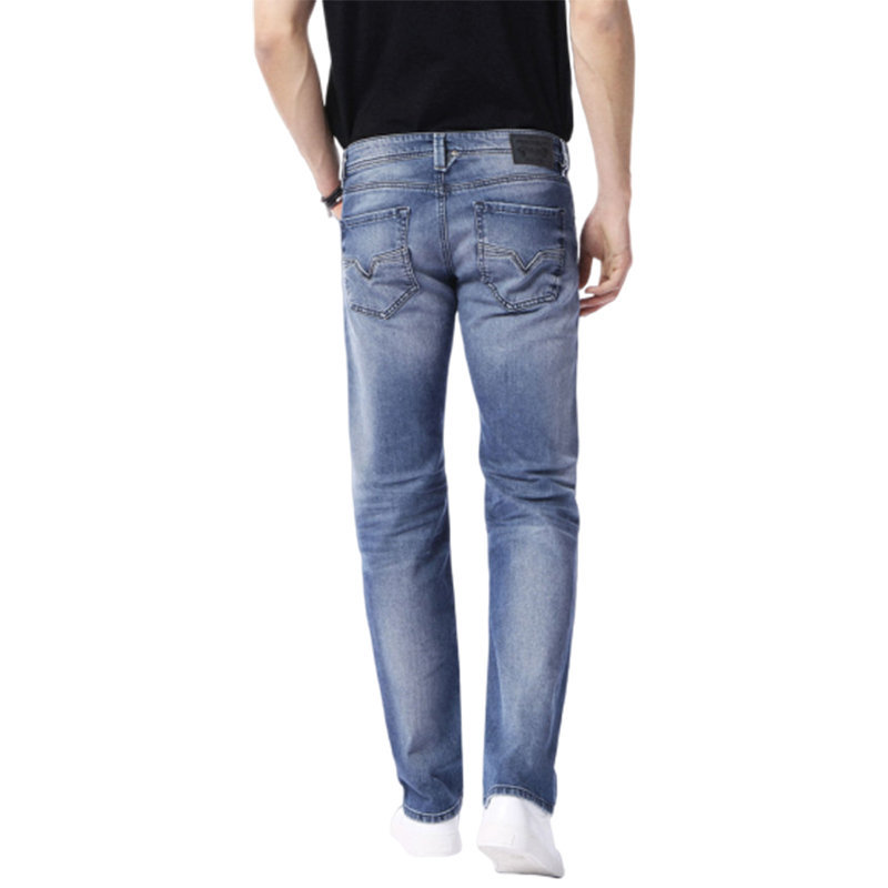 diesel larkee 0853p mens denim jeans regular fit tapered stretch casual pants