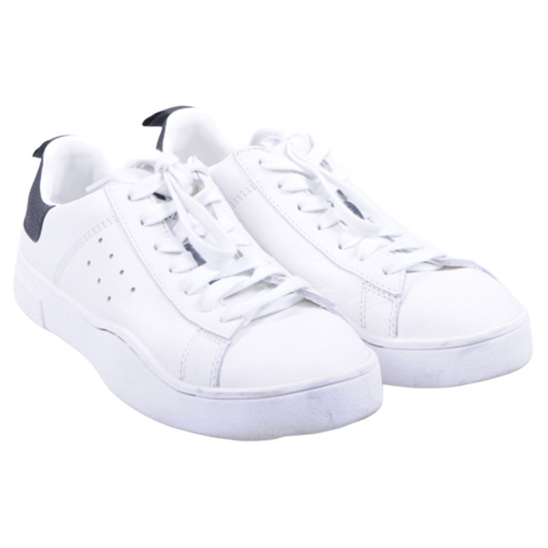 diesel s clever low w womens trainers genuine leather lace up white shoes rp-120