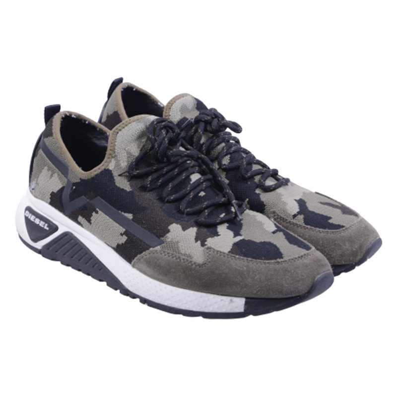 diesel s kby mens trainers lace up camouflage sports casual shoes rrp-190 eu 43