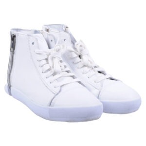 diesel s nentish w eu-39 womens trainers leather high neck lace zip shoes rp-159