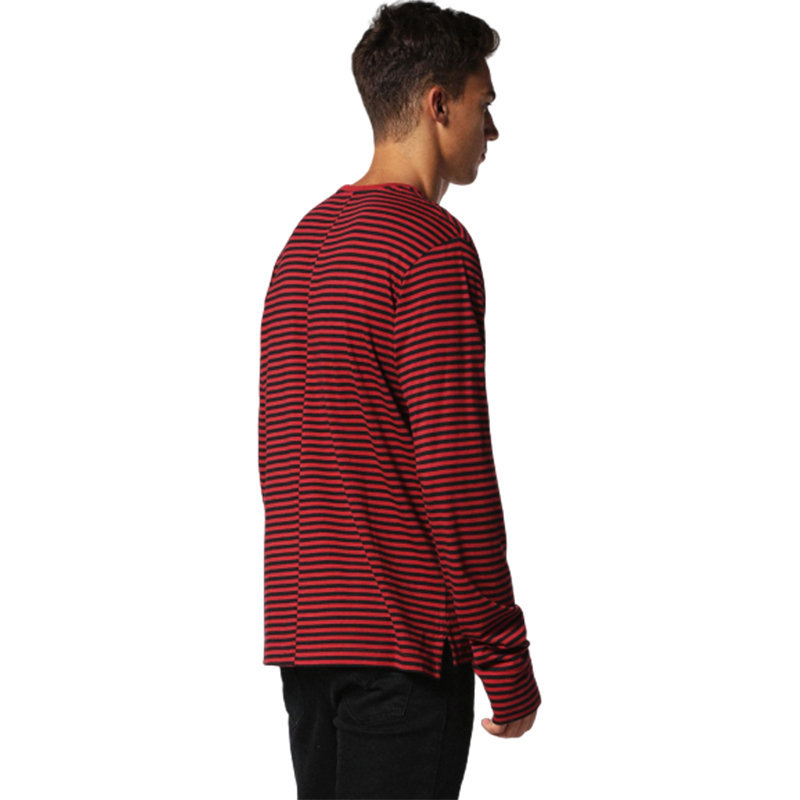 diesel t coppe mens t shirt long sleeve crew neck casual red outwear cotton tops