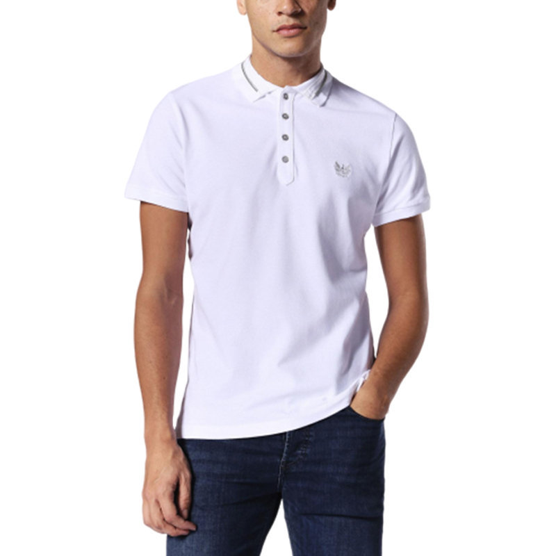 diesel t strip 100 mens polo t shirt short sleeve casual summer cotton golf tee