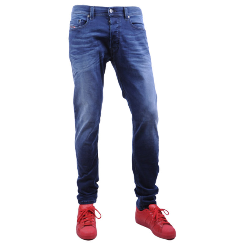 diesel tepphar 0666j mens denim jeans stretch slim fit carrot casual pants