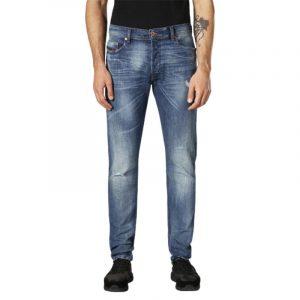 diesel tepphar c84mx mens denim jeans stretch slim fit carrot distressed pants 1 of 6
