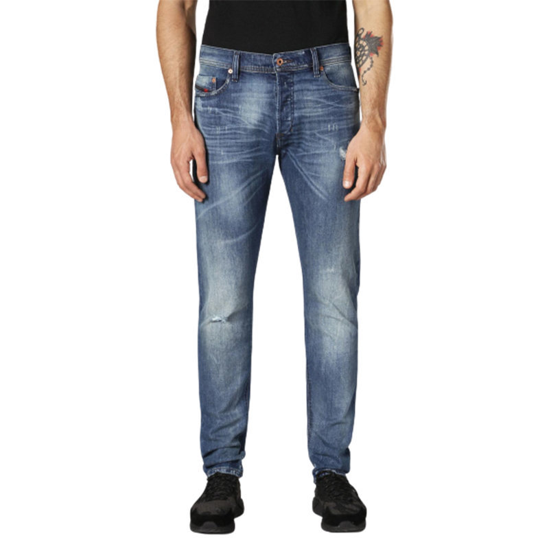 diesel tepphar c84mx mens denim jeans stretch slim fit carrot distressed pants