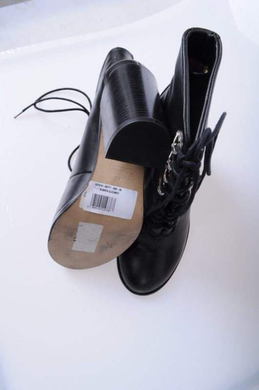diesel womens boots genuine leather lace up cuban heel casual black shoes rrp180