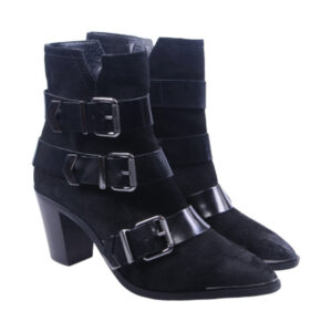 diesel womens boots genuine leather pull on cuban heel casual shoes rrp-189.99