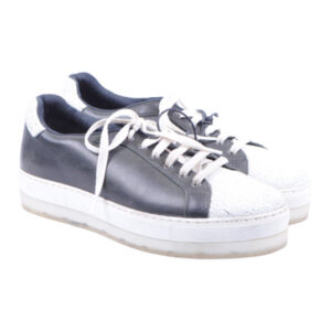 diesel womens trainers genuine leather sneakers lace up black shoes rrp-150