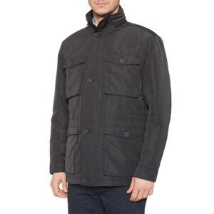farah mens winter coat quilted water repellent funnel neck puffer haynes jacket