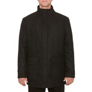 farah mens winter jacket quilted bar brook funnel neck puffer jacket black coat