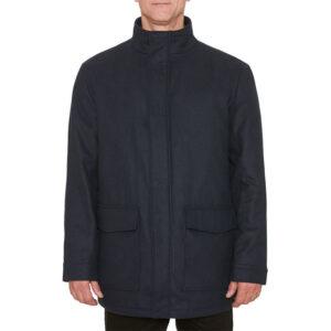 farah mens winter jacket quilted bar brook funnel neck puffer jacket navy coat