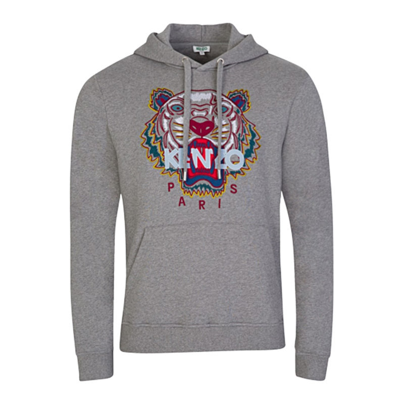 kenzo sweat mens hoodie grey jumper pullover hooded sweatshirt tiger print