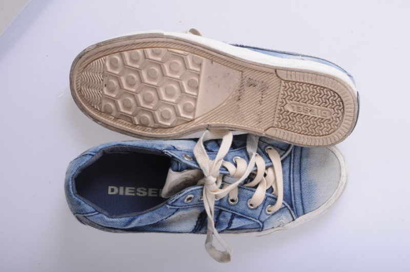 diesel exposure iv low w womens trainers denim sneakers lace up shoes rrp-150
