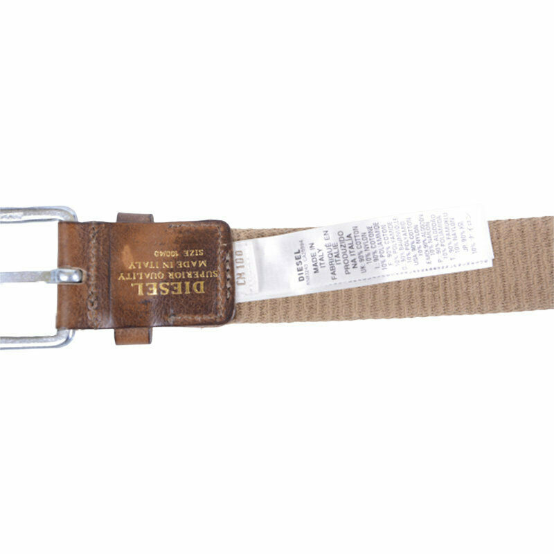 diesel bitapo 00s92a mens belts 100 cm casual cotton waist belt beige italy