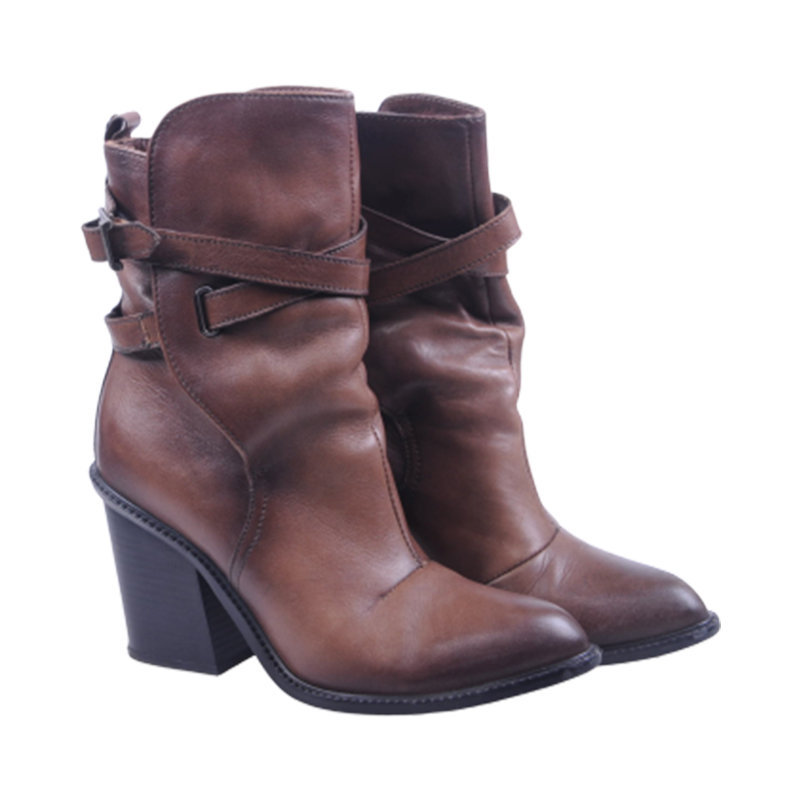 diesel covent womens boots genuine leather cuban heel casual shoes rp-165