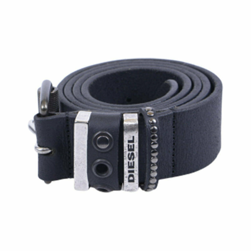 diesel b ive x04717 mens belts genuine cow leather casual black waist belt italy