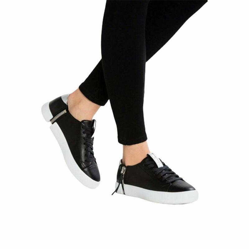diesel s nentish genuine leather womens sneakers lace up trainers shoes