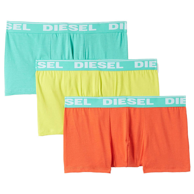 diesel fresh and bright mens boxer shorts stretch cotton 3 pack underwear trunks
