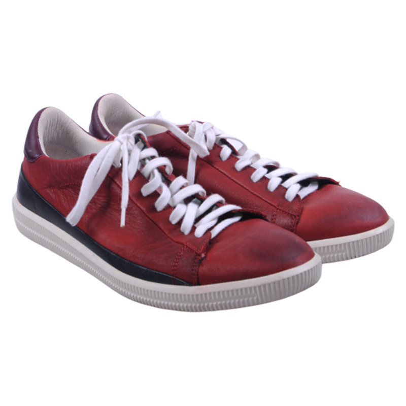 diesel mens converse leather sneakers yoga running trainers red shoes rrp-149.99