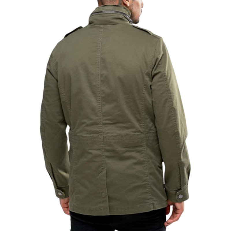 diesel j rico 0wagk mens parka jacket casual winter military green hooded coat