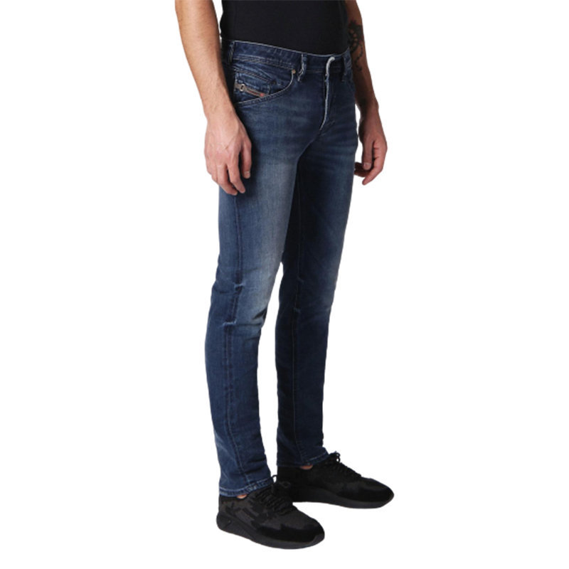 diesel belther 084sy mens denim jeans lyocell stretch regular slim tapered leg
