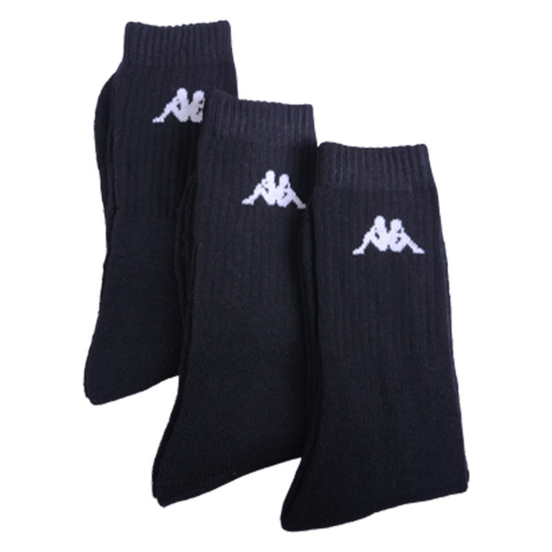 kappa mens socks 3 pairs unisex womens boots multi-pack mid calf sports socks