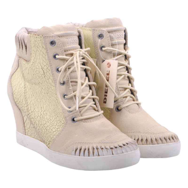 diesel we pelly w h4840 womens boots leather hi top lace up casual shoes rrp-150