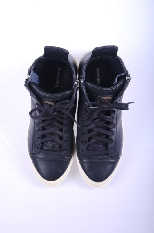 diesel s nentish t8013 mens trainers high neck zipped lace up shoes rrp-229.99