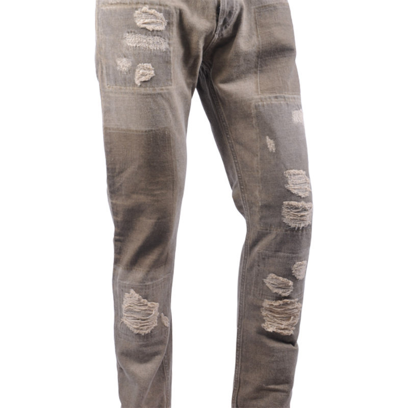 diesel black gold type-2813b bg8u8 mens denim jeans ripped regular slim italy