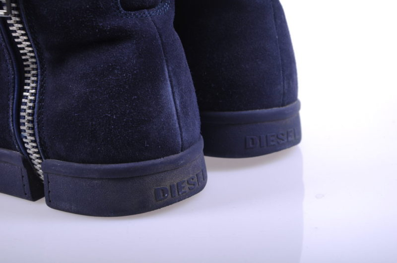 diesel s nentish t6012 mens trainers leather high neck casual navy shoes rrp-150