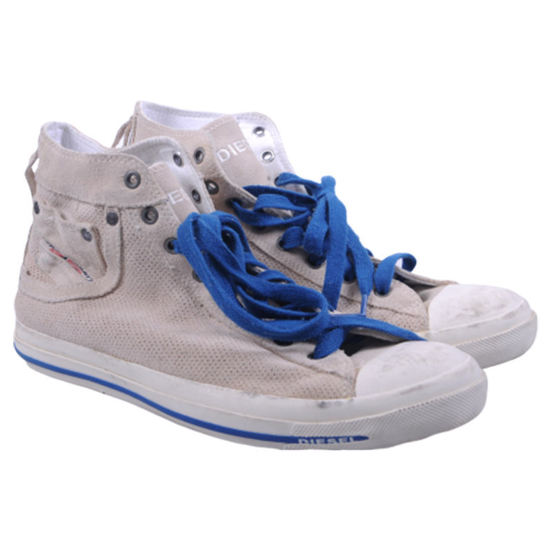 diesel exposure i mens trainers leather high neck lace up casual shoes rrp-150
