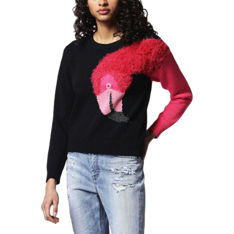 diesel m flamy a flamingo 0hanu womens sweatshirt crew neck pullover knit jumper