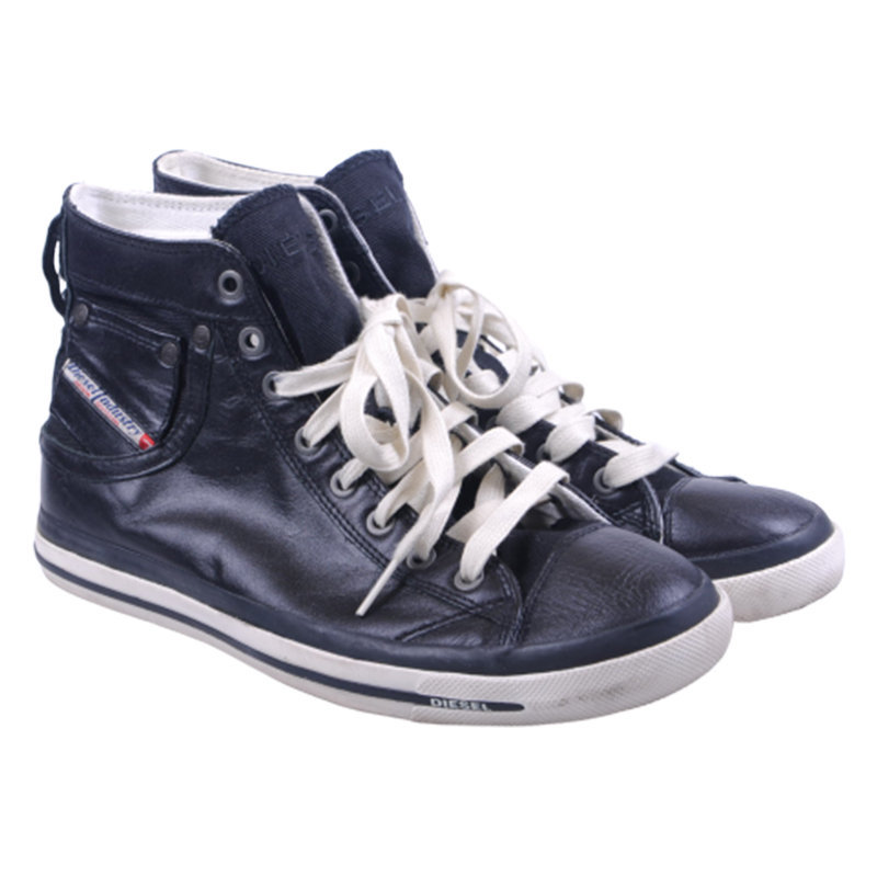 diesel exposure iv w 900 womens trainers leather high neck casual shoes rrp-150