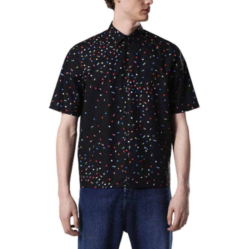 diesel s art 0paqj mens shirt short sleeves casual summer outwear cotton shirts
